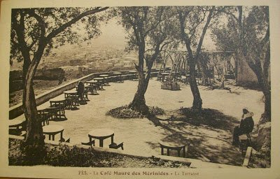 مقهى المرينيين بفاس في القرن العشرين